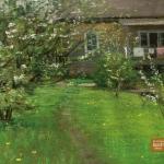 Левитан ИИ Цветущий сад 1893 хм 23х42