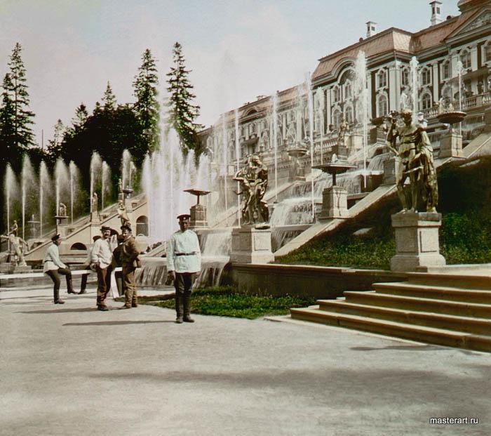F. Kr√°tkňė: Peterhof, Kask√°dy ze strany 1896 √£. 39