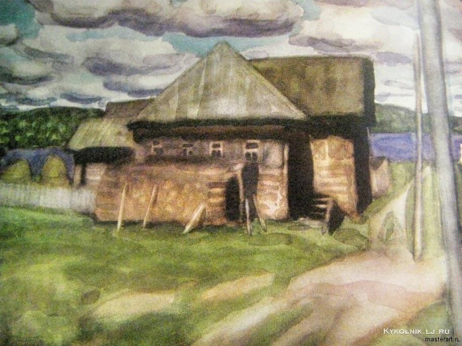 Попков Деревня Рыжково 1972 ба 36х48 ГТГ