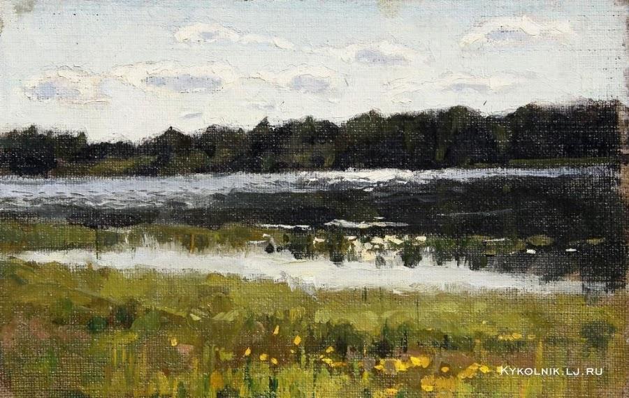 Попков На реке 1962