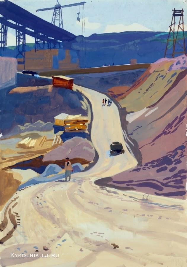 Попков На стройке 1958