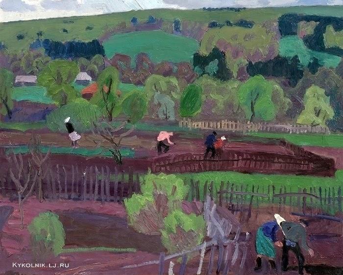 Попков Огороды весной 1968 км 57х70