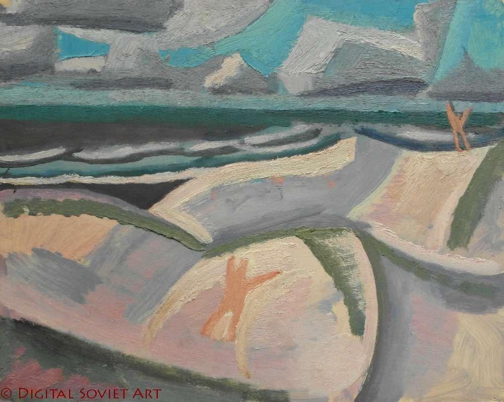 Попков Паланга Пляж 1968 бм 32х40.5