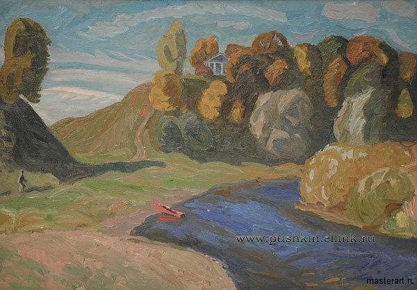Попков Тригорское Река Сороть 1973