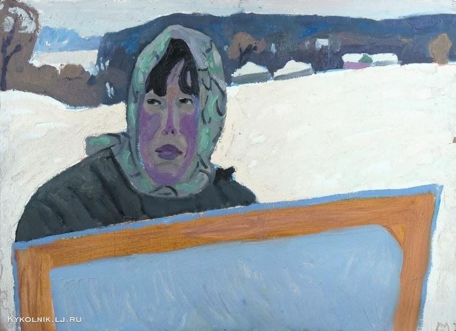 Попков Художница. Портрет жены
