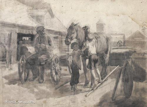 по мальчики с лошадью