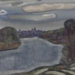 Попков Боровск Река Протва 1973 б акв 36х48 ГТГ