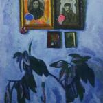 Попков Голубой интерьер 1967 км 76х56.5 Томский областной художественный музей