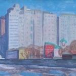 Попков Дом на набережной 1965-68гг 50х70