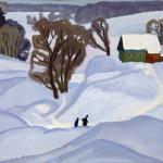 Попков Похово Деревня зимой 1964
