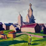 Попков Солнеч день в Кижме 1967 57х76