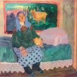 Попков Тетя Нюша с кошкой 1965