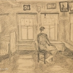 Попков Виктор Ефимович (Россия, 1932–1974) «В избе»