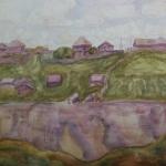 Попков Деревня Ферапонтово 1974 ба 36х48 ГТГ