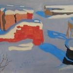 Попков Кирпичи под снегом 1963 км 50х74