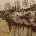 Попков Клязьма весной 1953 ба 29х34 Частная коллекция