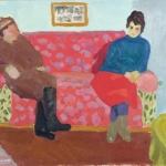Попков На красном диване 1965
