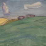 Попков Облака над Ферапонтово 1972