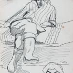 Попков Портрет художника ВЕ Игумнова Мужчина в валенках эскиз 1963