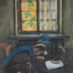 Попков Портрет художника Н Ершова за работой 1969