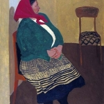 Попков Сидящяя женщина 1963