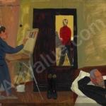 Попков Три художника 1963