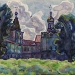 Попков Ферапонтов монастырь 1974 б акв 36х48